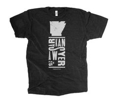 ACTUAL TEXT ARKANSAWYER #25 OUR COMMENTARY That's what they call me! Show some pride for where you're from or where you're livin'! FABRIC DETAILS MENS: Tri-Blend Tee / 50% Poly, 25% Cotton, 25% Rayon