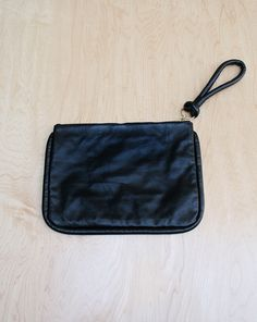 Corded Leather Clutch