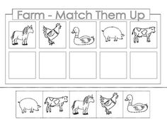 FREE........Farm Theme.  There are 4 worksheets.  Each page is a cut and paste activity....