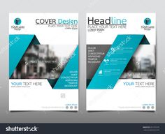 Blue Annual Report Brochure Flyer Design Template Vector, Leaflet Cover Presentation Abstract Flat Background, Layout In A4 Size - 401255245 : Shutterstock