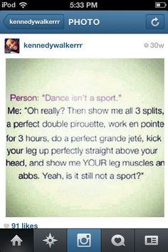 if you say dance isn't a sport I will literally slap you in the face