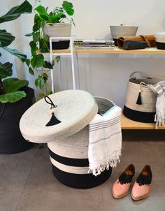 These lidded baskets are the perfect way to keep your bathroom or bedroom tidy. Use them for laundry, or for storing blankets, towels, or kids' toys.  Mia Mélange baskets are made from 100% cotton rope which we carefully sew together in a coiling technique. The cotton is grown locally in South Africa by farmers who are members of the Better Cotton Initiate (BCI). Laundry Basket With Lid, Storing Blankets, Rope Basket, Large Baskets, Cotton Rope, Farmers, South Africa, Kids Toys, Towels