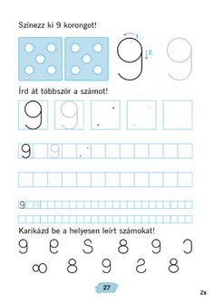 Mozaik Számvázoló 1 - Kiss Virág - Picasa Webalbumok Preschool Math, Kindergarten Worksheets, Alphabet, Numbers, Activities, Writing, Learning, Infant Activities, Fine Motor