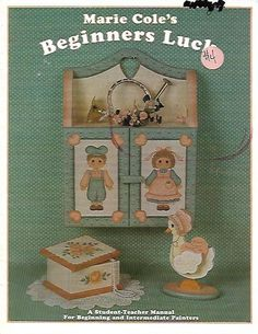 Beginners Luck by Marie Cole's Tole Painting Book FI0346 by DovesClosetInc on Etsy