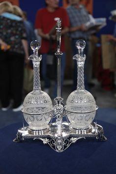Silver & Glass Presentation Decanter Set, ca. 1874  $5,000 Retail  –  $7,000 Retail