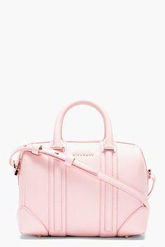 GIVENCHY  Pink Leather Lucrezia Mini Duffle Bag