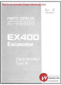 Hitachi ex60 2 excavator parts catalog pdf download this manual has hitachi ex400 excavator part catalog pdf download this manual has detailed illustrations as well as step by step written instructions with the necessary fandeluxe Choice Image