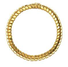 Ilias Lalaounis Gold Chevron Link Necklace