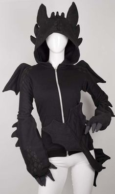 Dragon hoodie. Anyone else see Toothless from How to Train Your Dragon?