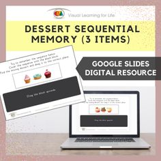 This digitally interactive resource is designed for use with Google Slides. This resource contains 10 slides in total.The student must remember the dessert sequence, so that they can drag the dessert that is missing in the sequence to the correct space once the sequence is covered up.