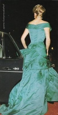 You know, even for a princess, it is hard to walk with a gown that has a train. Diana