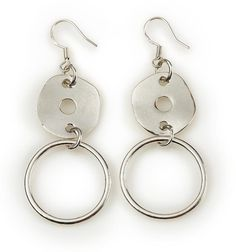 "Lightweight ""Simple Circle"" Earrings by Mialisia Jewelry A Perfect Circle, Perfect Match, Boot Bling, Short Necklace, Circle Earrings, Jewelry Trends, Jewelry Box, Fashion Jewelry, Silver Hoops"