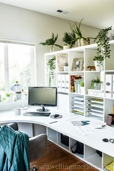 home office design on a budget \ home office design . home office design on a budget . home office design layout . home office design feminine . home office design for men . home office design for two . home office design small . home office design ideas Ikea Home Office, Home Office Setup, Home Office Organization, Home Office Space, Home Office Design, Office Storage Ideas, Home Office Shelves, Desk Ideas, Office Hacks