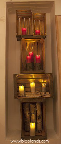 Court Porte-Bougie en Bois Bougies D/écoration sans Flamme Bougeoir Journal Pot De Fleurs Ornement D/écor