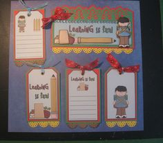 SCHOOL BOY Premade Paper Piecings Border/Tag Set for Scrapbook Pages CHRIS TPHH