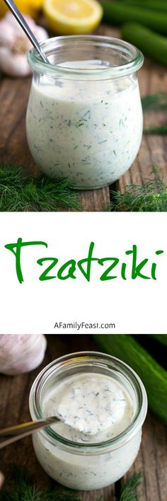 Tzatziki is a creamy, delicious Greek sauce that is typically served as a condiment for grilled meats, or served as a dip.