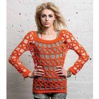 Coldwave Sweater Pattern; Linda Skuja; Crochetscene 2014 | InterweaveStore.com