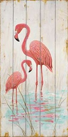 The Winning Flamingo Duo Poster Print by Arnie Fisk (10 x 20) -- Awesome products selected by Anna Churchill