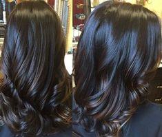 Hair Color And Cut, Hair Color Dark, Brown Hair Colors, Hair Colour, Dark Fall Hair, Hair Color Highlights, Hair Color Balayage, Balayage Highlights, Bayalage