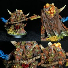 Thugspew - My Converted Lord of Contagion (Lore Inside as usual! Warhammer 40k Figures, Warhammer Paint, Warhammer Models, Warhammer 40k Miniatures, Warhammer 40000, Orks 40k, Sword And Sorcery, Fantasy Miniatures, Mini Paintings