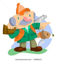 Hunter with gun pointing with dog by AtomicBHB, via Shutterstock