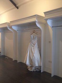 First dress hung! First dress hung! Bridal Boutique Interior, Boutique Interior Design, Boutique Decor, Wedding Store, Wedding Dress Shopping, Fashion Showroom, Store Interiors, Bridal Stores, Bridal Suite