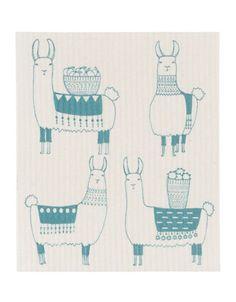 Brands | Tea Towels & Aprons | Swedish Llamarama Dishcloth | Hudson's Bay