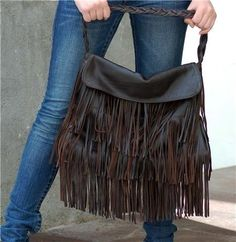 Gorgeous Leather Fringe Bag - Berta Hobo Bag - Romantic Bohemian Chic