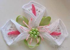 Como fazer flor Copo de leite em crochê passo a passo gráfico e Receita
