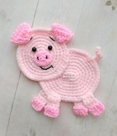 PATTERN Pig Applique Crochet Pattern PDF Farm Animal Pattern