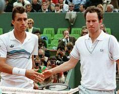 Ivan Lendl vs John McEnroe Head to Head and Rivalry Atp Tennis, Tennis Gear, Play Tennis, Steffi Graf, Tennis Tournaments, Tennis Players, Jimmy Connors, Sports Highlights, Tennis Legends