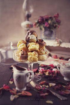 Ice-cream filled profiteroles with chocolate ganache recipe