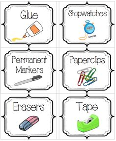 Here are fourchaotic-classroom-proofed ideas thatreally work. Plus I've included the labels I use to organize my classroom supplies for your downloading pleasure!