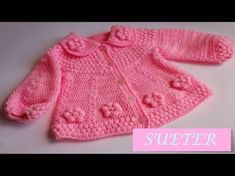 Ravelry: My Fischschwanz Newborn Sweater pattern by Jennifer Brooks Rice Crochet Bebe, Crochet Girls, Crochet For Kids, Baby Knitting Patterns, Knitting For Kids, Crochet Baby Sweaters, Crochet Baby Clothes, Knitted Baby, Crochet Hooded Scarf