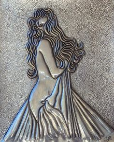 Sensual - Veldany Creations Pewter Art, Pewter Metal, Aluminum Foil Crafts, Tin Foil Art, Glue Art, Marijuana Art, Metal Embossing, Cardboard Art, Science Art