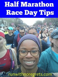 Have you ever run a half marathon? Here are some tips for the big day! Check out more running tips at runwithnoregrets.com!