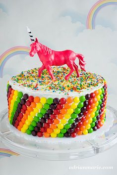 I would prefer a cooler unicorn who poops a skittles rainbow and throws up sprinkles. Otherwise, this cake is perfect.