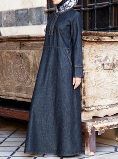 Denim Braided Dress