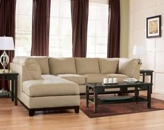 Khaki Two Piece Sectional from the Foxboro Collection (Taft)