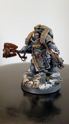 Warhammer 40k Space Wolves, Warhammer Art, Warhammer Models, Warhammer 40k Miniatures, Warhammer 40000, Wolf Time, War Hammer, Tabletop Games, Space Marine