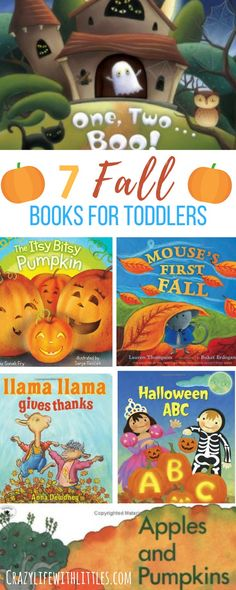 7 books about fall for toddlers and preschoolers, books about fall, autumn books for kids, thanksgiving books for kids, books about leaves and pumpkins, halloween books for toddlers