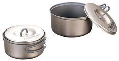 Evernew Titanium NonStick Pot Set Small >>> Check out the image by visiting the link-affiliate link. Cooking Utensils, Kitchen Utensils, Camping Essentials, Camping Gear, Liberty Mountain, Camping Kitchen, Camping Cooking, Pot Sets, Image Link