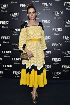 Miriam Leone attends the Fendi Roma 90 Years Anniversary Welcome Cocktail at Palazzo Carpegna on July 7, 2016 in Rome, Italy.