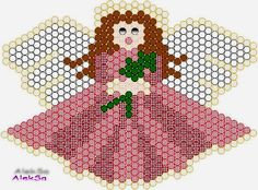 Angel pattern  Use seed beads 11/0   This is a brick stitch