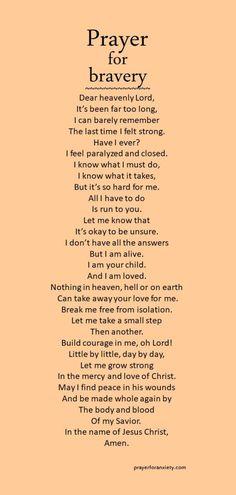 Prayer for bravery