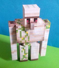 Finished Iron Golem Minecraft printable papercraft cutout