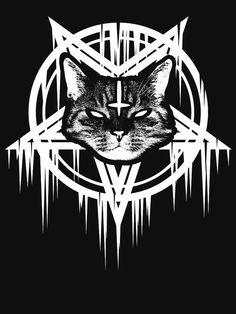 Graffiti Lettering Fonts, Tattoo Lettering Fonts, Gothic Wallpaper, Planet Tattoos, Magic Cat, Satanic Art, Sketch Tattoo Design, Black Metal, Metal Tattoo