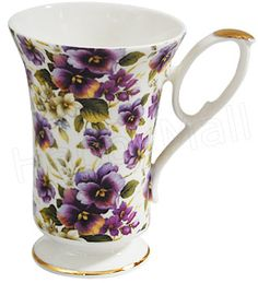 Pansy chintx mug. Brand: Heirloom. Made in England