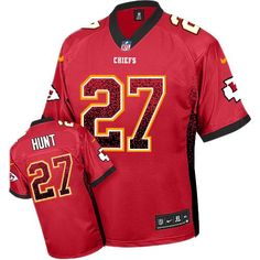 Nike Chiefs  27 Kareem Hunt Red Team Color Men s Stitched NFL Elite Drift  Fashion Jersey ba7fbfed3
