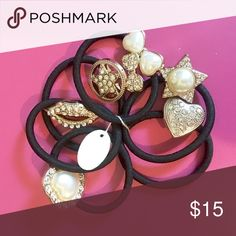 💖PRETTY HAIR ACCESSORIES 💖PRETTY HAIR ACCESSORIES ~ Set of 7 ~ Pearl/Rhinstone🚫 Trades or Holds ✅ Use offer option ❤️ Bundles Accessories Hair Accessories